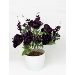 Bouquet-Roses Mauves 19 tiges