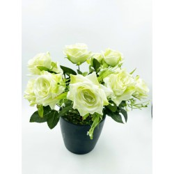 Bouquet-Roses Vertes 10 tiges
