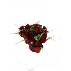 Coeur Floral Roses Rouge 10 cm