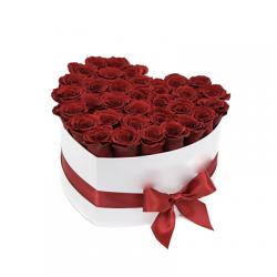 Coffret Coeur Floral 40 cm