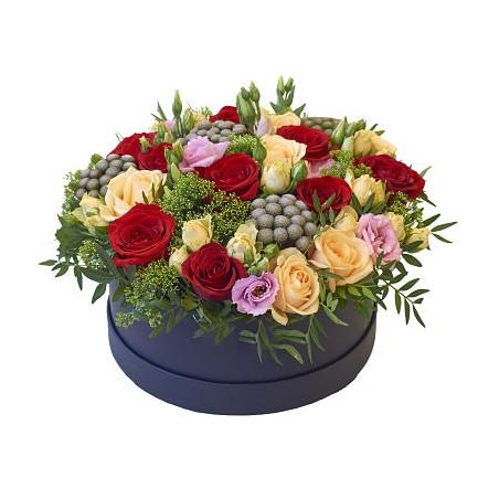 Coffret Cylindrique Floral...