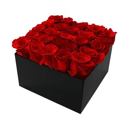 Coffret Carre Rose 20x20 cm