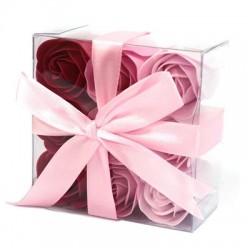 Coffret Carre Rose 15 cm