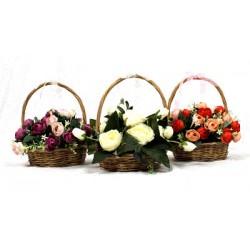 Panier Floral Multi Roses
