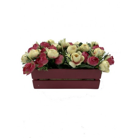 Jardinière florale en bois...