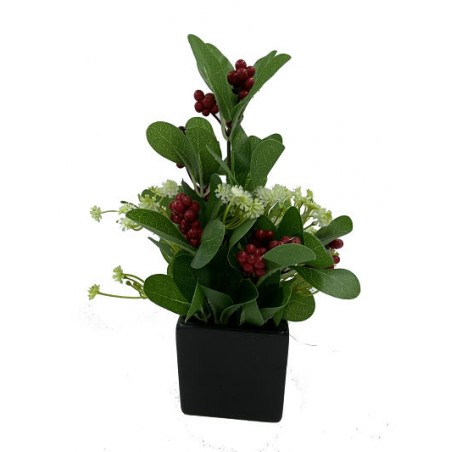 Pot Floral en Verre Noire...