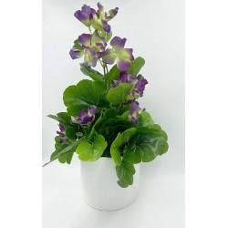 Pot Floral en Verre Taupe