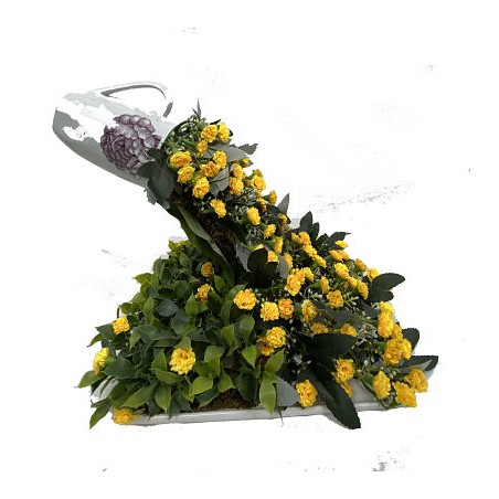 Idée Florale Cascade Jaune