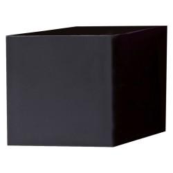 Pot bois noir 50x50