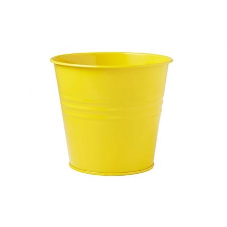 Pot  en zinc-jaune