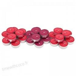 Chandelles en lot de 30 rouge